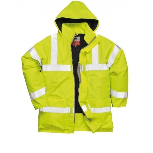 Portwest Bizflame Rain Jacket Hi-Vis FR