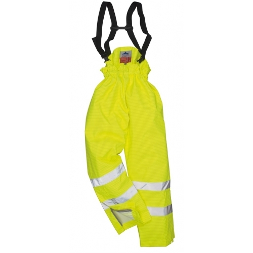 Portwest Bizflame Rain Unlined Hi-Vis Antistatic FR Trousers