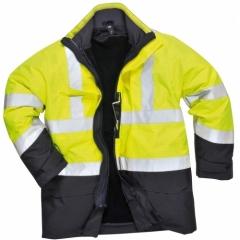 Jacheta de ploaie Portwest Bizflame HI VIS, protectie multipla