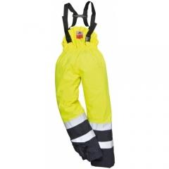 Pantaloni de ploaie Portwest Bizflame HI VIS cu protectie multipla