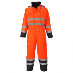Portwest wadded & waterproof Coverall Bizflame HI VIS S775