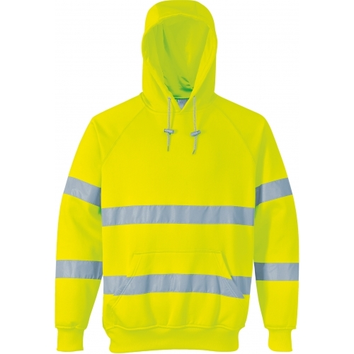 Portwest Hi-Vis Long Sleeve Hooded T-shirt