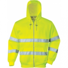 Portwest Hoodie Hi Vis with Front Zipper