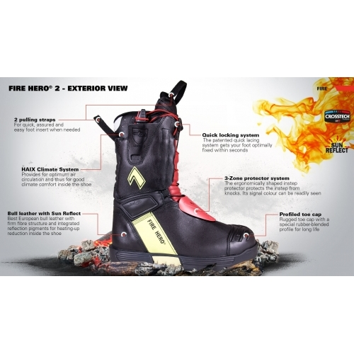 HAIX Fire Hero 2 Ankle Shoes #4