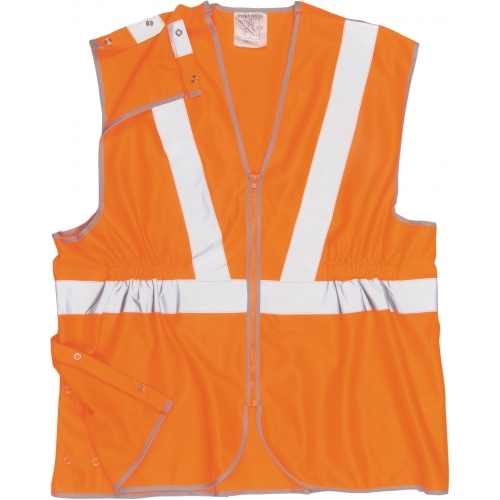 Portwest Vest Long HI VIS, GO/RT